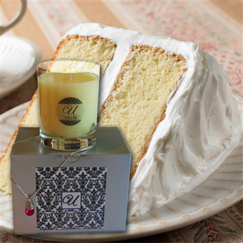 Cake jewelry candle