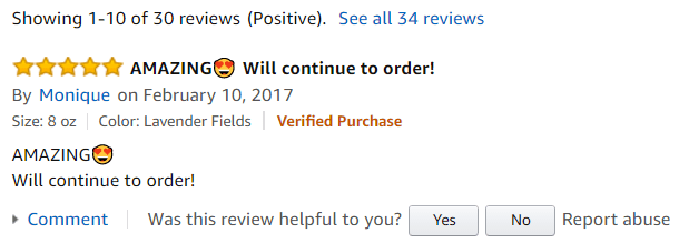 Amazon Reviews in Unrivaled Candles